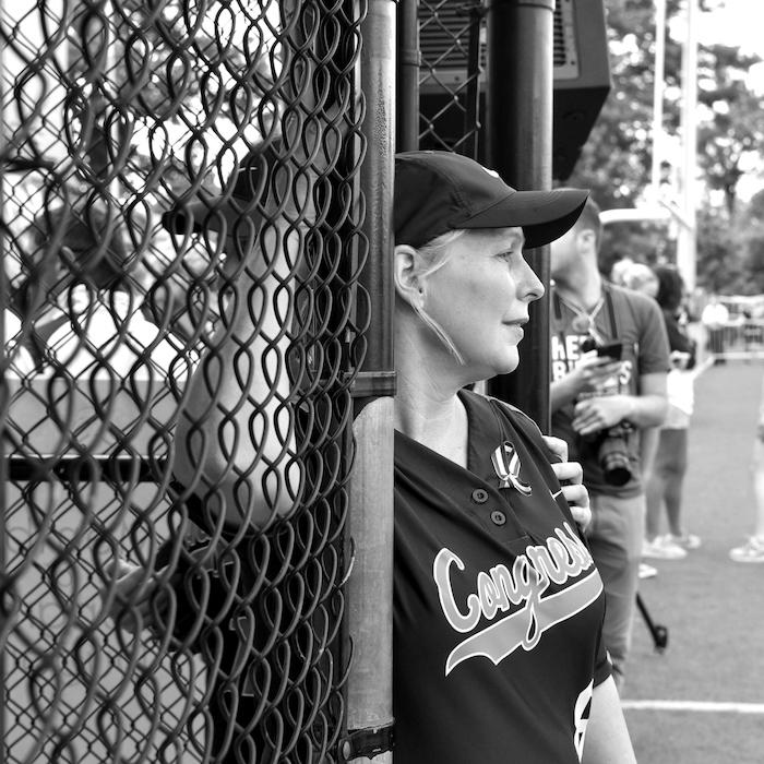 Senator Kirsten Gillibrand at the congressional baseball game